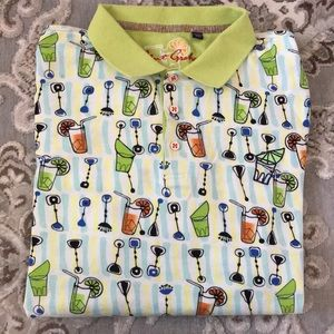 Robert Graham mod drink polo shirt 2X